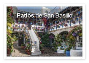 Patios de SAn Basislio de Córdoba. Entradas gratis y visitas guiadas.